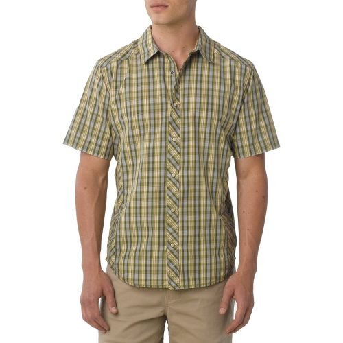 Mens Prana Bryant Short Sleeve Non-Technical Tops - Spinach S