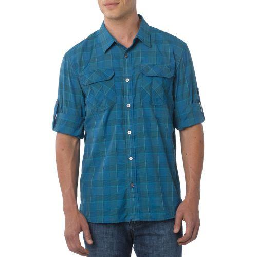 Mens Prana Terrain Short Sleeve Non-Technical Tops - Dress Blue XXL