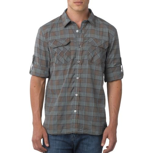Mens Prana Terrain Short Sleeve Non-Technical Tops - Espresso S