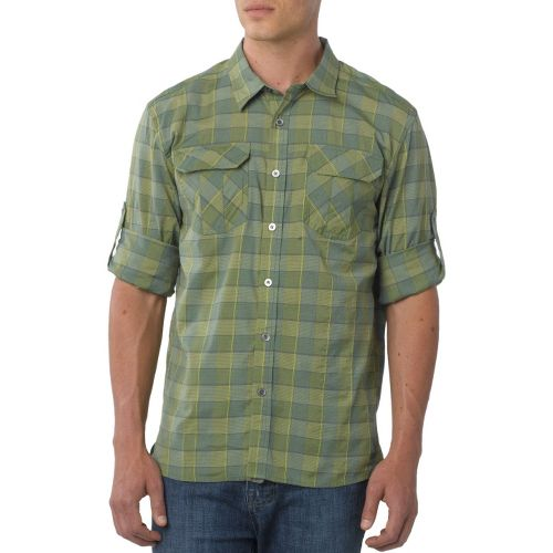 Mens Prana Terrain Short Sleeve Non-Technical Tops - Spinach M