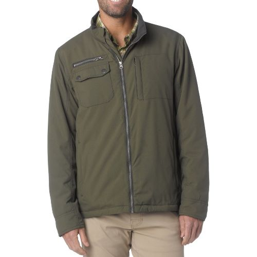 Mens Prana Carter Outerwear Jackets - Dark Olive S