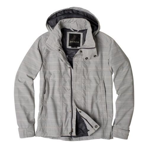 Mens Prana Stowaway Outerwear Jackets - Pebble M