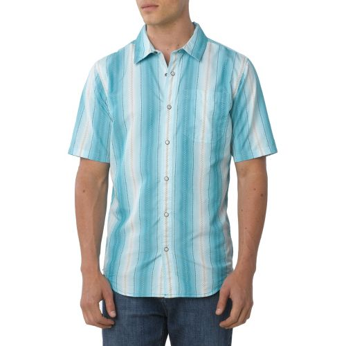 Mens Prana Cozumel Short Sleeve Non-Technical Tops - Deep Cyan XS