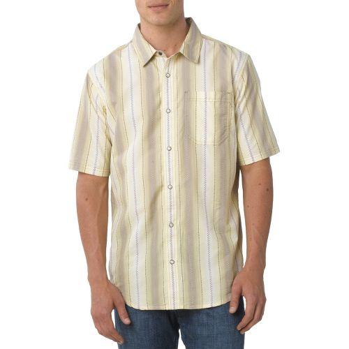 Mens Prana Cozumel Short Sleeve Non-Technical Tops - Khaki XXL