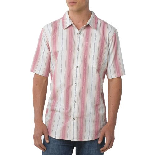 Mens Prana Cozumel Short Sleeve Non-Technical Tops - Mauvewood S