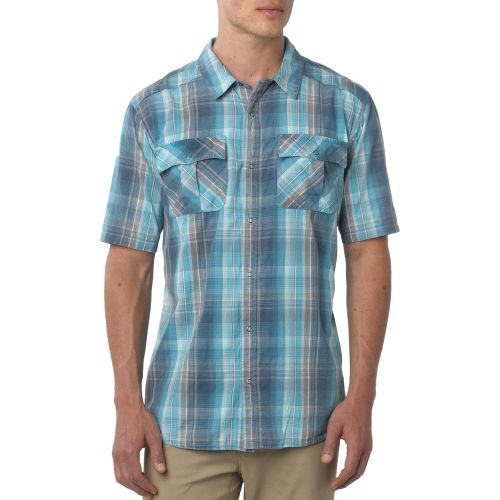 Mens Prana Midas Short Sleeve Non-Technical Tops - Blue M