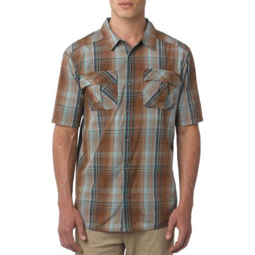 Mens Prana Midas Short Sleeve Non-Technical Tops - Brown XS