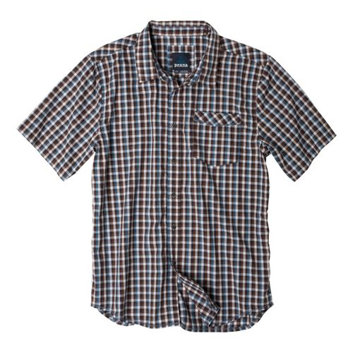 Mens Prana Arrow Short Sleeve Non-Technical Tops - Blue Ash S