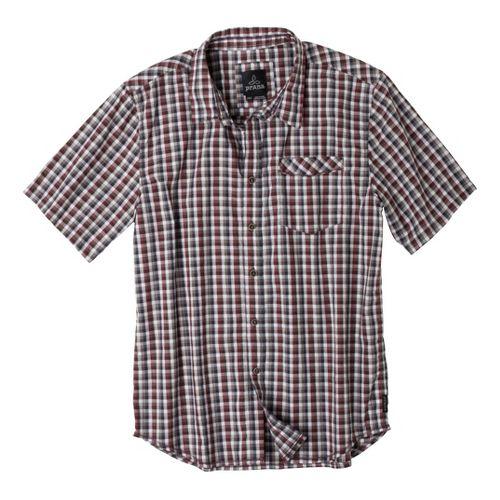 Mens Prana Arrow Short Sleeve Non-Technical Tops - Raisin S