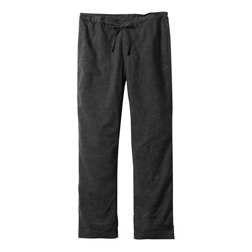 Mens prAna Sutra Pants - Black Herringbone L-S