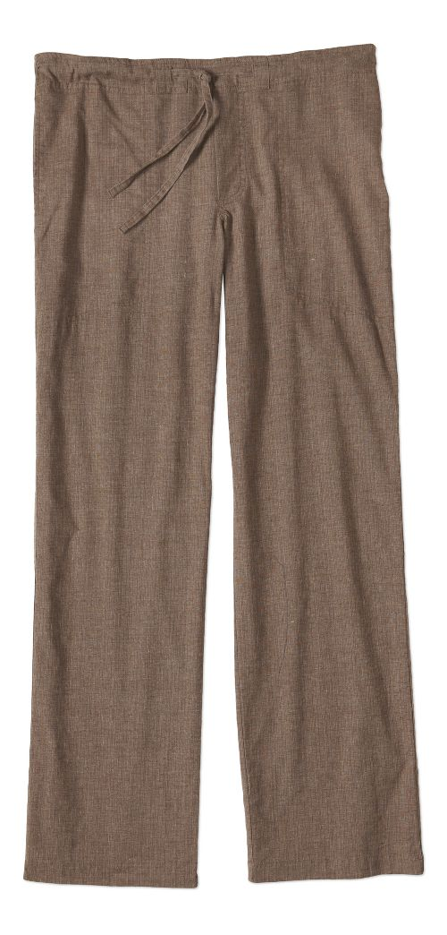 Mens prAna Sutra Pants - Brown Herringbone L-S