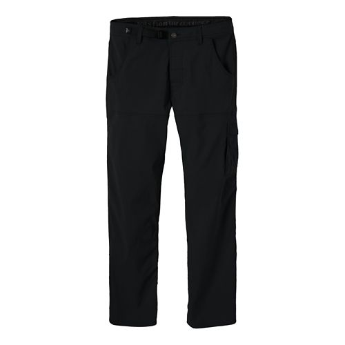 Mens Prana Stretch Zion Full Length Pants - Black L-S