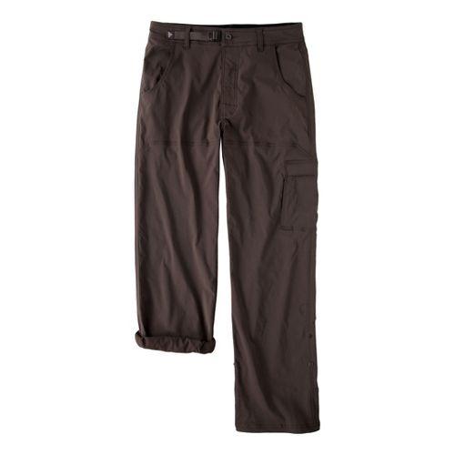 Mens Prana Stretch Zion Full Length Pants - Brown M
