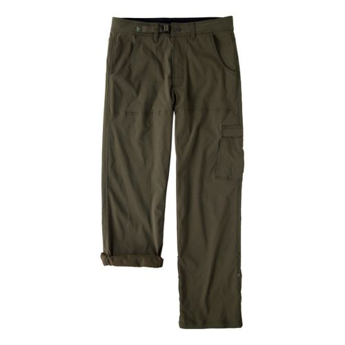 Mens Prana Stretch Zion Full Length Pants - Cargo Green XLT