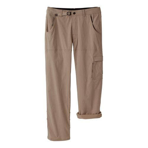 Mens Prana Stretch Zion Full Length Pants - Dark Khaki S