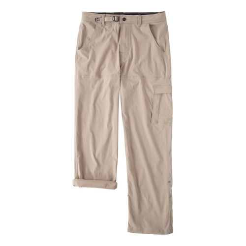Mens Prana Stretch Zion Full Length Pants - Khaki XLT