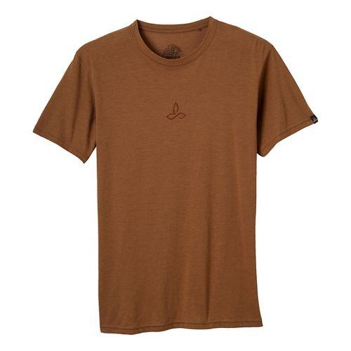 Mens Prana Alpine Short Sleeve Non-Technical Tops - Dark Ginger M