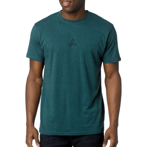 Mens Prana Alpine Short Sleeve Non-Technical Tops - Deep Teal M