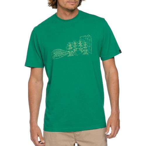 Mens Prana Chivo Short Sleeve Non-Technical Tops - Kelly Green M