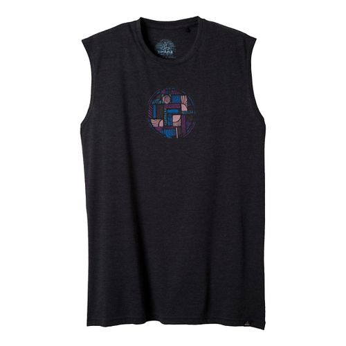 Mens Prana Elements Sleeveless Non-Technical Tops - Black S