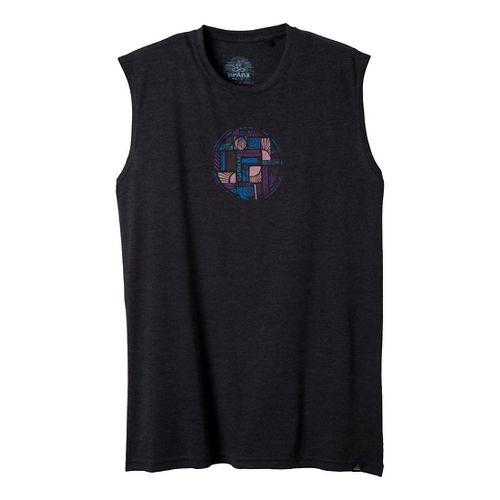 Mens Prana Elements Sleeveless Non-Technical Tops - Black XL
