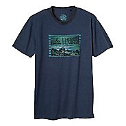 Mens Prana Higher Living Short Sleeve Non-Technical Tops