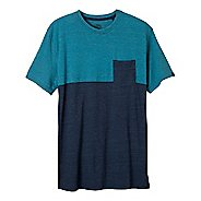 Mens prAna Ian Pocket Crew Short Sleeve Non-Technical Tops