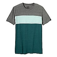 Mens Prana Jax Crew Short Sleeve Non-Technical Tops