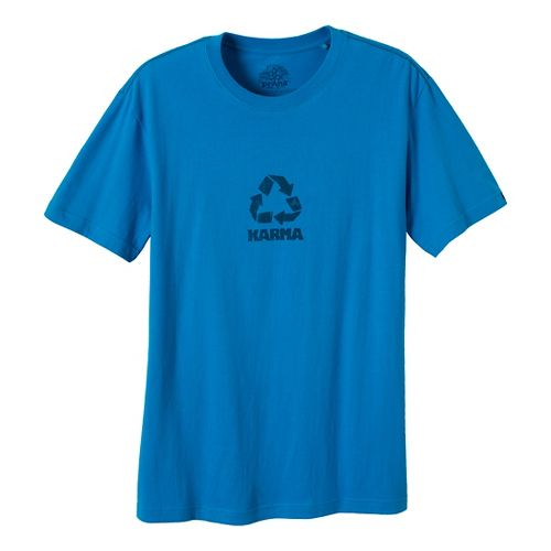 Mens Prana Karma Short Sleeve Non-Technical Tops - Caribbean Sea XXL
