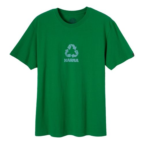 Mens Prana Karma Short Sleeve Non-Technical Tops - Kelly Green L