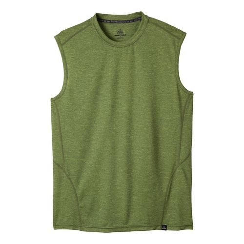 Mens Prana Orion Sleeveless Technical Tops - Pewter L