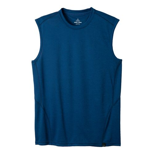 Mens Prana Orion Sleeveless Technical Tops - Pure Blue M