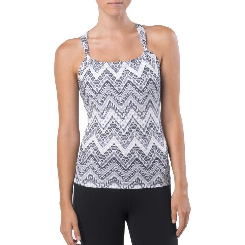 Womens Prana Quinn Tanks Technical Tops - Black Tempo S