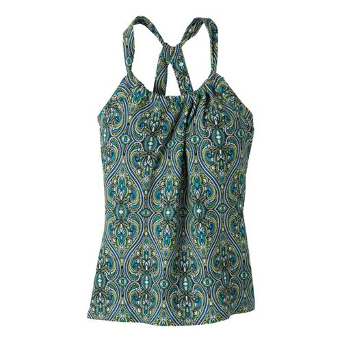 Womens Prana Quinn Tanks Technical Tops - Cyan Tile M