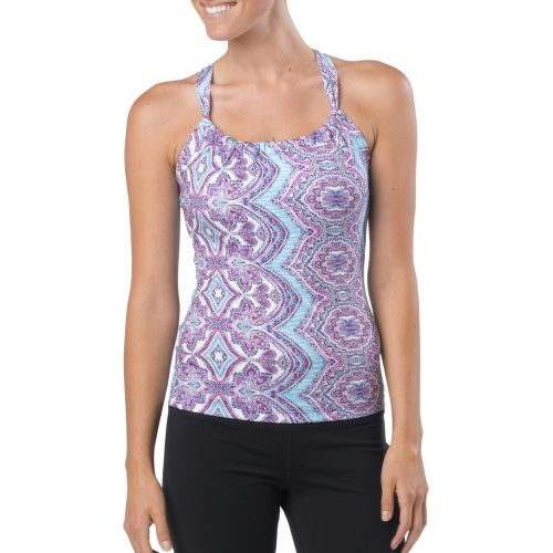 Womens Prana Quinn Tanks Technical Tops - Sail Blue Bali XS