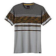 Mens prAna Throttle Crew Short Sleeve Non-Technical Tops
