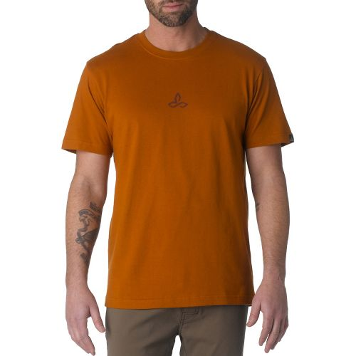 Mens Prana Wilderness Short Sleeve Non-Technical Tops - Burnt Sienna XXL