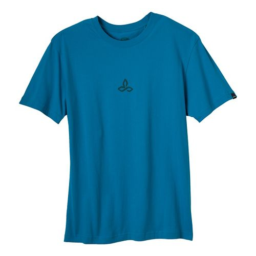 Mens Prana Wilderness Short Sleeve Non-Technical Tops - Caribbean Sea XXL