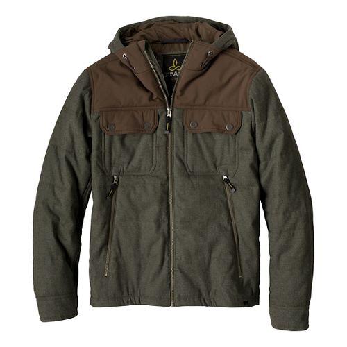 Mens Prana Argus Outerwear Jackets - Cargo Green L