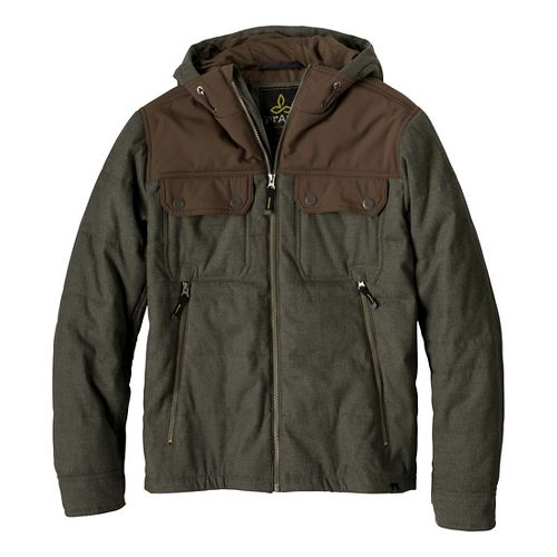 Mens Prana Argus Outerwear Jackets - Cargo Green M