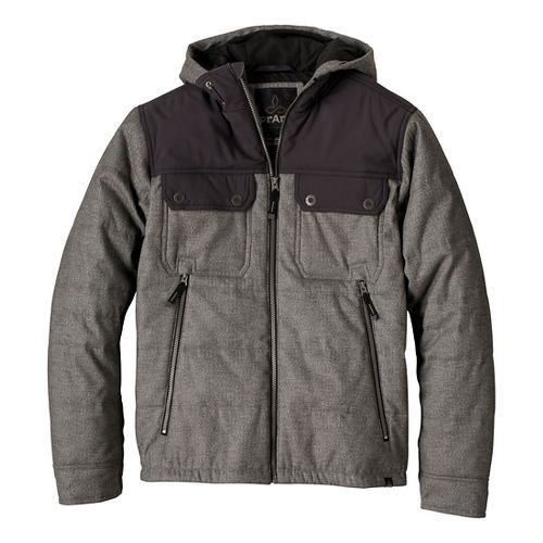 Mens Prana Argus Outerwear Jackets - Charcoal M