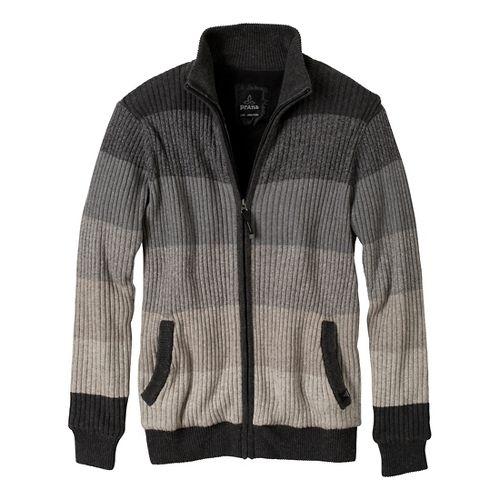 Mens Prana Aukland Full Zip Outerwear Jackets - Charcoal XXL