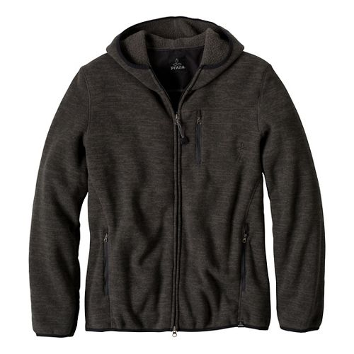 Mens Prana Bryce Full Zip Outerwear Jackets - Charcoal S