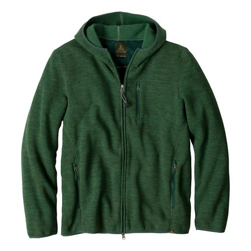 Mens Prana Bryce Full Zip Outerwear Jackets - Pine Needle S