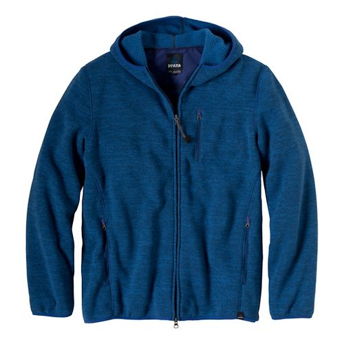 Mens Prana Bryce Full Zip Outerwear Jackets - Pure Blue L