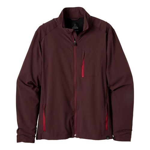 Mens Prana Conrad Outerwear Jackets - Rich Cocoa XXL