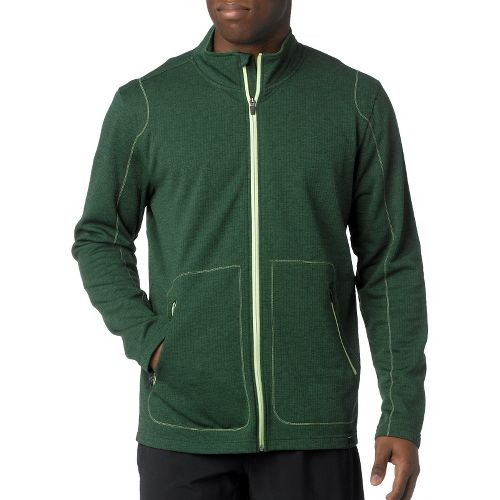 Mens Prana Gavin Full Zip Long Sleeve Full Zip Technical Tops - Pine Needle L ...