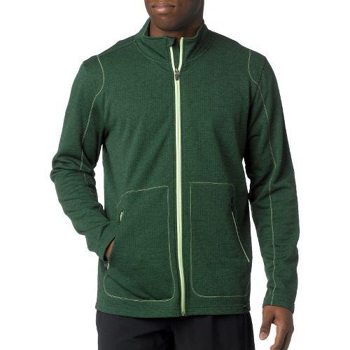 Mens Prana Gavin Full Zip Long Sleeve Full Zip Technical Tops - Pine Needle M ...
