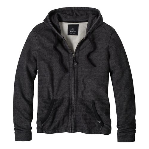 Mens Prana Hughes Warm-Up Hooded Jackets - Black XL