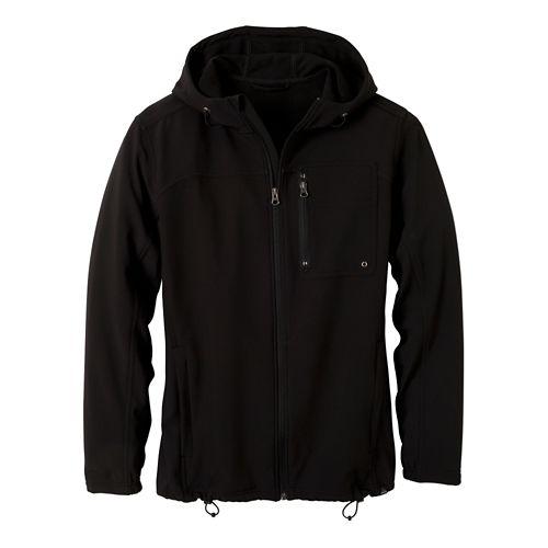 Mens Prana Jamison Outerwear Jackets - Black/Black XXL